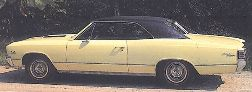 Chevelle Body Decal Kit 1967 Standard or Deluxe
