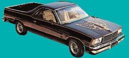 El Camino Body Decal Kit 1978 Black Knight Edition