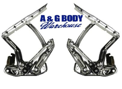 1965 - 1967 Chevelle Chrome Hood Hinges NEW PAIR