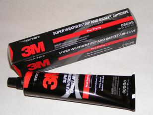 Super weatherstrip & gasket adhesive.