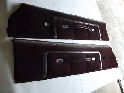 1978 - 1987 Monte Carlo Upper Door Panels PAIR Burgunday Claret
