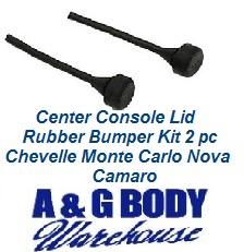 Center Console Lid Rubber Bumper Kit 2 Pc