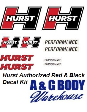 Hurst Decal Kit Red / White / Black 10 pc Kit (CLON)