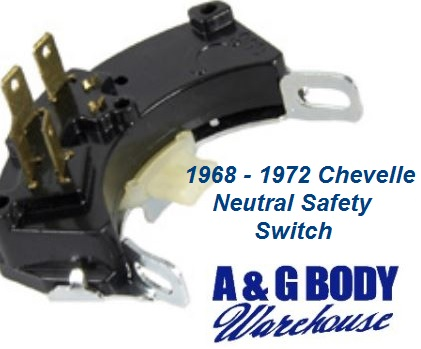 Neutral Safety Switch reverse Lights Switch New 1968 - 1972 Chevelle