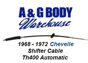 Automatic Shifter Cable for TH400 & Horseshoe Style Shifter 1968 - 1972 Chevelle