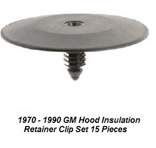 1970 - 1992 GM Hood Insulation Blanket Clip Kit