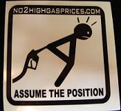 Gas Price Stickers.