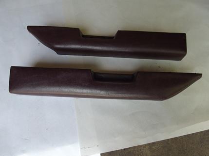 1978 - 1987 Lower Door Panel Armrest Pads Burgundy Claret PAIR